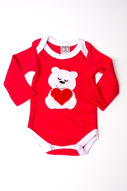 БодиКофточки<br>Хлопковое боди для новорожденного  В изделии использованы цвета: красный, белый  Размер соответствует росту ребенка.<br><br>По сезону: Всесезон<br>Размер : 56,74<br>Материал: Хлопок<br>Количество в наличии: 2