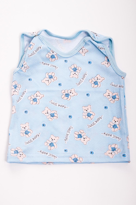 МайкаБельевой трикотаж<br>Хлопковая футболка для ребенка  Цвет: голубой, мультицвет  Размер соответствует росту ребенка<br><br>Сезон: Осень,Весна<br>Размер : 74<br>Материал: Хлопок<br>Количество в наличии: 1
