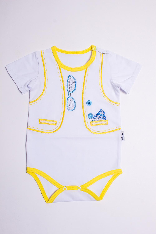 БодиКофточки<br>Хлопковое боди для новорожденного  Цвет: белый, желтый.  Размер соответствует росту ребенка<br><br>По сезону: Всесезон<br>Размер : 62,68<br>Материал: Хлопок<br>Количество в наличии: 5