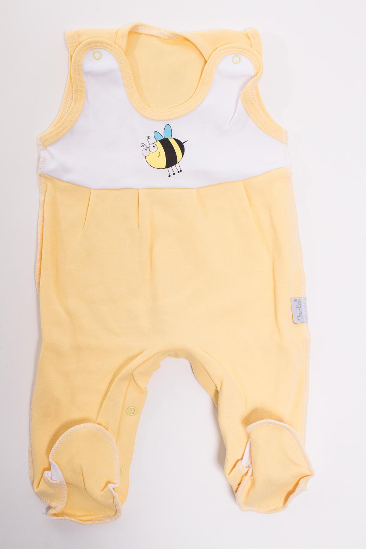КомбинезонКомбинезончики<br>Хлопковый комбинезон для новорожденного  Цвет: желтый, белый  Размер соответствует росту ребенка<br><br>Размер : 56<br>Материал: Трикотаж<br>Количество в наличии: 1