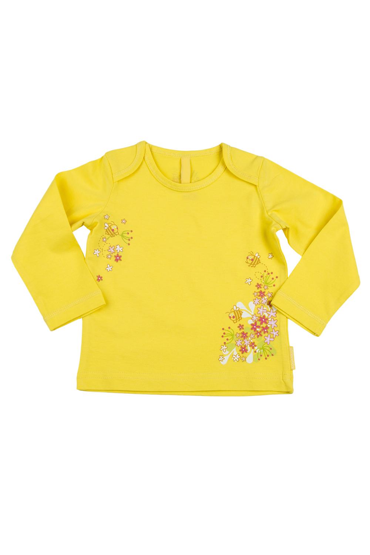 КофточкаКофточки<br>Кофточка из нежного хлопка с длинными рукавами, очень удобна в использовании, украшена забавным принтом.  В изделии использованы цвета: желтый и др.  Размер соответствует росту ребенка.<br><br>По сезону: Осень,Весна<br>Размер : 62,68,74<br>Материал: Трикотаж<br>Количество в наличии: 3