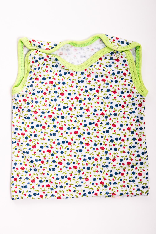 МайкаБельевой трикотаж<br>Хлопковая футболка для ребенка  Цвет: белый, мультицвет  Размер соответствует росту ребенка<br><br>По сезону: Осень,Весна<br>Размер : 62,74<br>Материал: Хлопок<br>Количество в наличии: 2