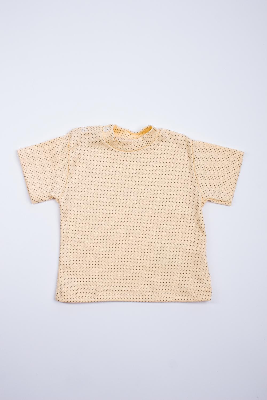 ФутболкаФутболки<br>Хлопковая футболка для ребенка.  Цвет: желтый  Размер соответствует росту ребенка<br><br>По материалу: Хлопковые<br>По образу: Повседневные<br>По рисунку: С принтом (печатью),Цветные<br>По сезону: Весна,Зима,Лето,Осень,Всесезон<br>По возрасту: Ясельные ( от 1 до 3 лет)<br>Размер : 68,74,80,86<br>Материал: Хлопок<br>Количество в наличии: 9