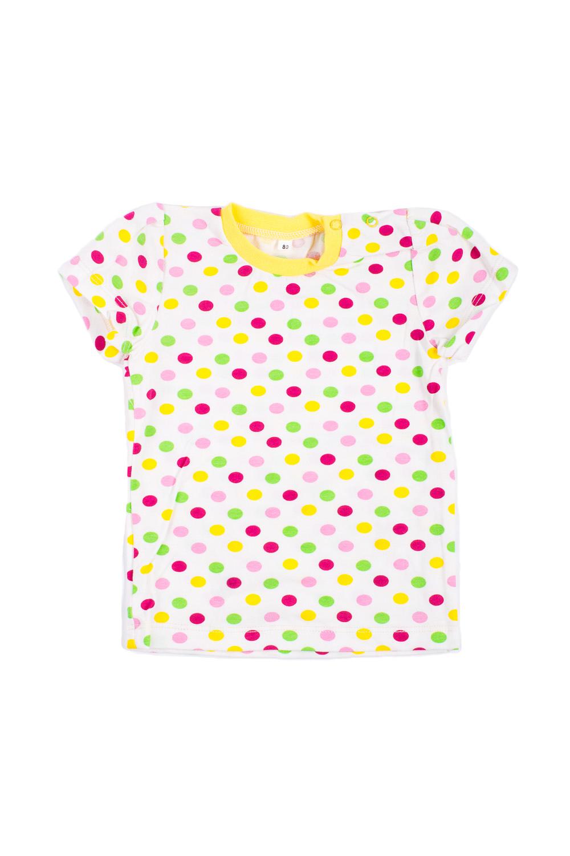 ФутболкаКофточки<br>Трикотажная футболка для новорожденного.  В изделии использованы цвета: белый и др.  Размер соответствует росту ребенка.<br><br>Горловина: С- горловина<br>По возрасту: Ясельные ( от 1 до 3 лет)<br>По материалу: Трикотажные<br>По образу: Повседневные<br>По рисунку: В горошек,С принтом (печатью),Цветные<br>По сезону: Весна,Зима,Лето,Осень,Всесезон<br>По силуэту: Полуприталенные<br>Рукав: Короткий рукав<br>Размер : 68,80,92<br>Материал: Трикотаж<br>Количество в наличии: 3