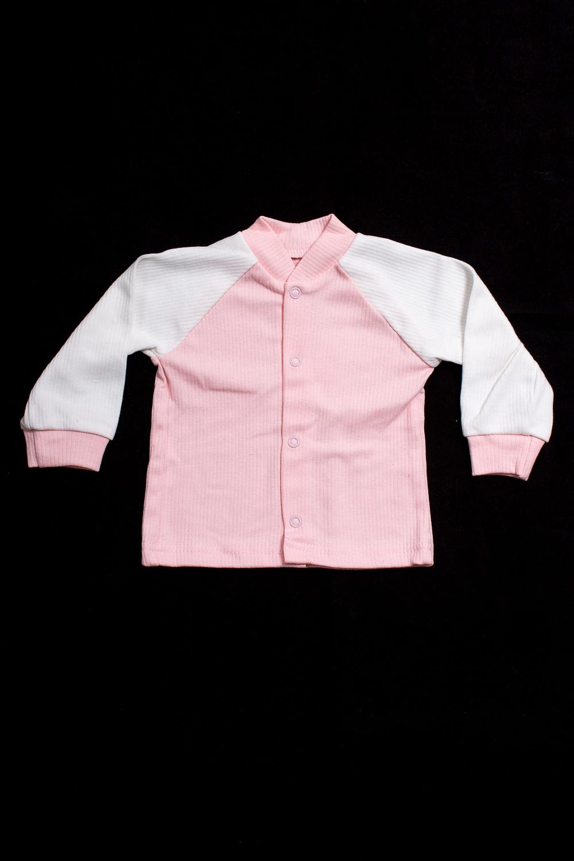 КофтаКофточки<br>Хлопковая кофточка для новорожденного  В изделии использованы цвета: розовый, белый.  Размер соответствует росту ребенка<br><br>Воротник: Стойка<br>По возрасту: Ясельные ( от 1 до 3 лет)<br>По материалу: Хлопковые<br>По образу: Повседневные<br>По рисунку: Цветные<br>По сезону: Весна,Зима,Лето,Осень,Всесезон<br>По силуэту: Полуприталенные<br>По элементам: С кнопками<br>Рукав: Длинный рукав<br>Размер : 62<br>Материал: Хлопок<br>Количество в наличии: 2
