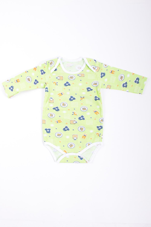 БодиКофточки<br>Хлопковое боди для новорожденного  Цвет: салатовый, мультицвет  Размер соответствует росту ребенка.<br><br>Размер : 68<br>Материал: Хлопок<br>Количество в наличии: 1