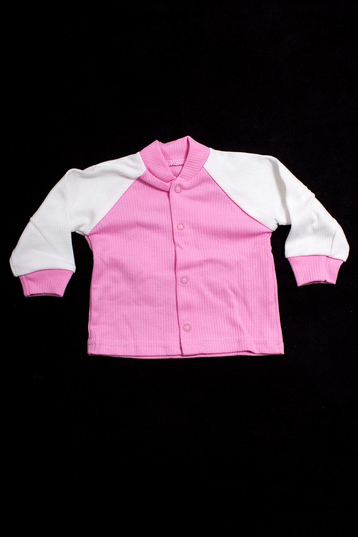 КофтаКофточки<br>Хлопковая кофточка для новорожденного  В изделии использованы цвета: розовый, белый.  Размер соответствует росту ребенка<br><br>Воротник: Стойка<br>По возрасту: Ясельные ( от 1 до 3 лет)<br>По материалу: Хлопковые<br>По образу: Повседневные<br>По рисунку: Цветные<br>По сезону: Весна,Зима,Лето,Осень,Всесезон<br>По силуэту: Полуприталенные<br>По элементам: С кнопками<br>Рукав: Длинный рукав,С манжетами<br>Размер : 80<br>Материал: Хлопок<br>Количество в наличии: 1