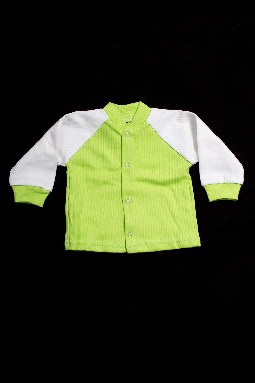 КофтаКофточки<br>Хлопковая кофточка для новорожденного  В изделии использованы цвета: салатовый, белый.  Размер соответствует росту ребенка<br><br>Воротник: Стойка<br>По возрасту: Ясельные ( от 1 до 3 лет)<br>По материалу: Хлопковые<br>По образу: Повседневные<br>По рисунку: Цветные<br>По сезону: Весна,Зима,Лето,Осень,Всесезон<br>По силуэту: Полуприталенные<br>По элементам: С кнопками<br>Рукав: Длинный рукав,С манжетами<br>Размер : 56,62,74,80,92<br>Материал: Хлопок<br>Количество в наличии: 10