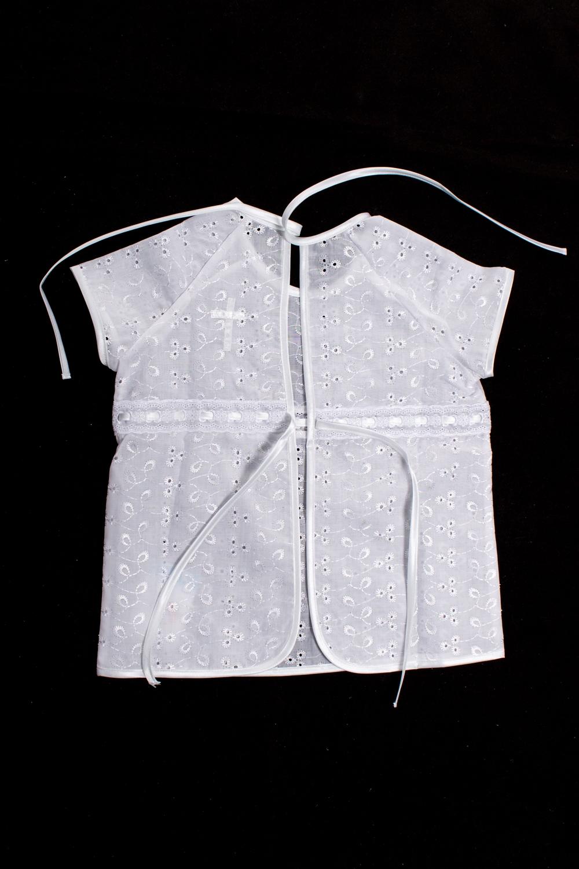 РубашкаКофточки<br>Крестильная рубашка  Цвет: белый  Размер соответствует росту ребенка<br><br>По сезону: Всесезон<br>Размер : 62<br>Материал: Хлопок<br>Количество в наличии: 1