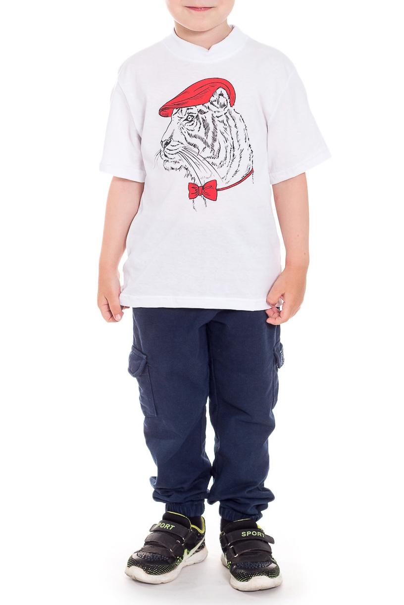 ФутболкаФутболки<br>Хлопковая футболка для мальчика  Размер 92 соответствует росту 87-92 см Размер 98 соответствует росту 93-98 см Размер 104 соответствует росту 98-104 см Размер 110 соответствует росту 105-110 см  Цвет: белый<br><br>Горловина: С- горловина<br>По длине: Удлиненные<br>По материалу: Хлопковые<br>По образу: Повседневные<br>По рисунку: Однотонные,С принтом (печатью)<br>По сезону: Лето<br>По силуэту: Полуприталенные<br>Рукав: Короткий рукав<br>По возрасту: Дошкольные ( от 3 до 7 лет),Ясельные ( от 1 до 3 лет)<br>Размер : 92,98<br>Материал: Хлопок<br>Количество в наличии: 4