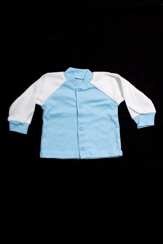 КофтаКофточки<br>Хлопковая кофточка для новорожденного  В изделии использованы цвета: голубой, белый.  Размер соответствует росту ребенка<br><br>Воротник: Стойка<br>По возрасту: Ясельные ( от 1 до 3 лет)<br>По материалу: Хлопковые<br>По образу: Повседневные<br>По рисунку: Цветные<br>По сезону: Весна,Зима,Лето,Осень,Всесезон<br>По силуэту: Полуприталенные<br>По элементам: С кнопками<br>Рукав: Длинный рукав,С манжетами<br>Размер : 62,74,80<br>Материал: Хлопок<br>Количество в наличии: 7