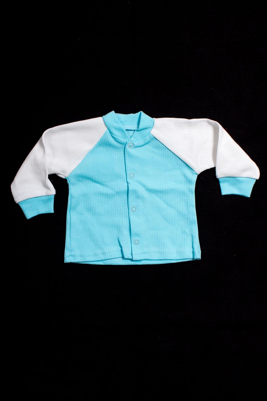 КофтаКофточки<br>Хлопковая кофточка для новорожденного  В изделии использованы цвета: голубой, белый.  Размер соответствует росту ребенка<br><br>Воротник: Стойка<br>По возрасту: Ясельные ( от 1 до 3 лет)<br>По материалу: Хлопковые<br>По образу: Повседневные<br>По рисунку: Цветные<br>По сезону: Весна,Зима,Лето,Осень,Всесезон<br>По силуэту: Полуприталенные<br>По элементам: С кнопками<br>Рукав: Длинный рукав,С манжетами<br>Размер : 56,62,80<br>Материал: Хлопок<br>Количество в наличии: 5