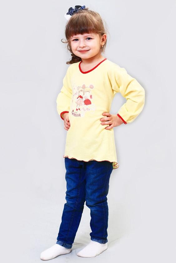 Футболка футболка v baby желтый 104 размер