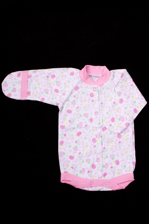 БодиКофточки<br>Хлопковое боди для новорожденного.  В изделии использованы цвета: белый, розовый.  Размер соответствует росту ребенка.<br><br>По сезону: Всесезон<br>Размер : 50<br>Материал: Хлопок<br>Количество в наличии: 1