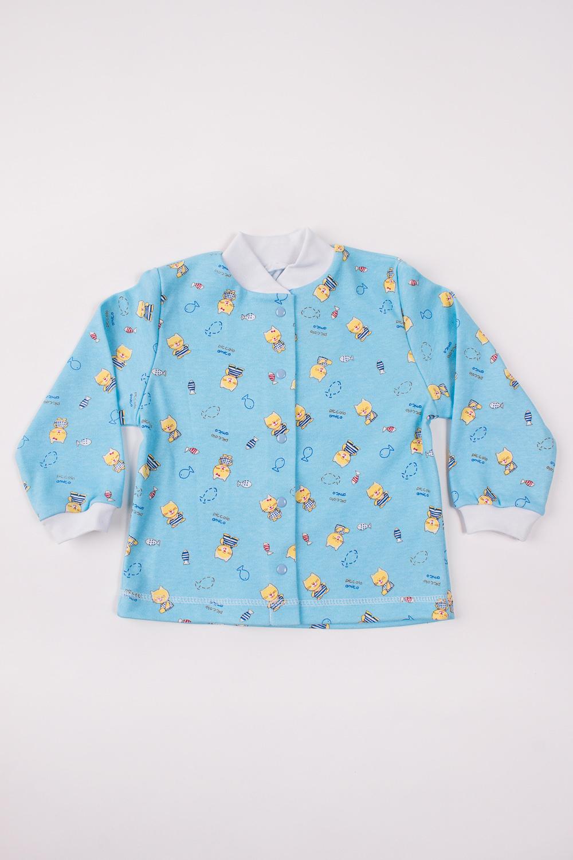 КофточкаКофточки<br>Хлопковая кофточка для новорожденного. Застежка на кнопки.  Цвет: голубой, мультицвет  Размер соответствует росту ребенка<br><br>Размер : 92<br>Материал: Трикотаж<br>Количество в наличии: 1