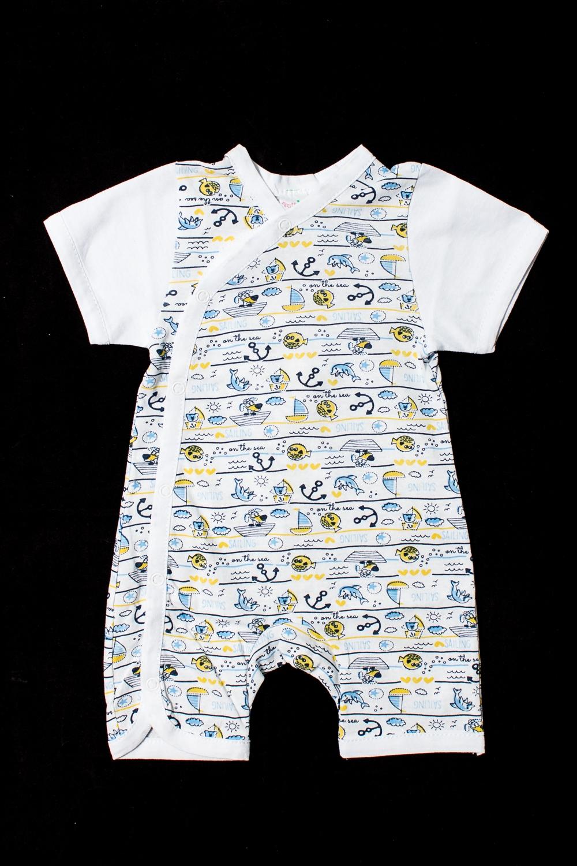 ПесочникКомбинезончики<br>Хлопковый песочник для новорожденного  Цвет: белый, мультицвет  Размер соответствует росту ребенка<br><br>По сезону: Лето<br>Размер : 62,68<br>Материал: Хлопок<br>Количество в наличии: 2