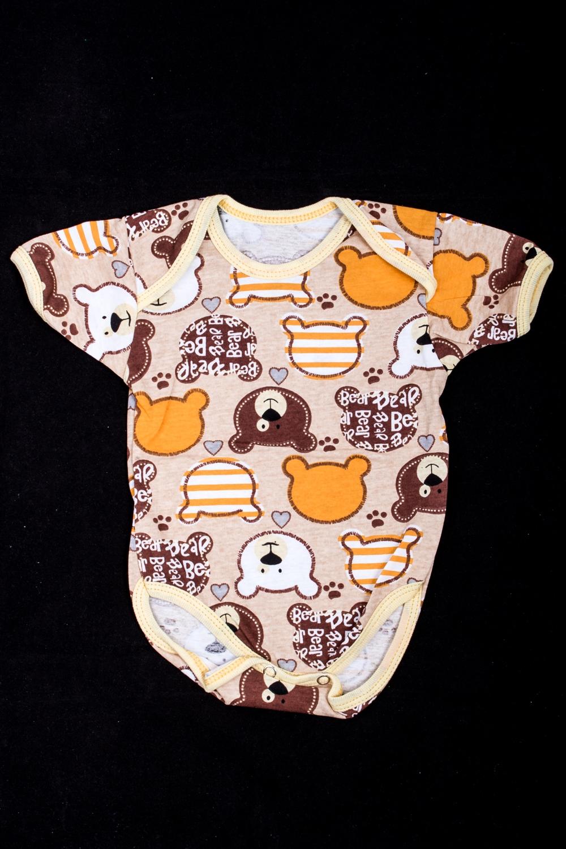 БодиКофточки<br>Хлопковое боди для новорожденного  В изделии использованы цвета: коричневый, оранжевый и др.  Размер соответствует росту ребенка.<br><br>По сезону: Всесезон<br>Размер : 74,80<br>Материал: Трикотаж<br>Количество в наличии: 4