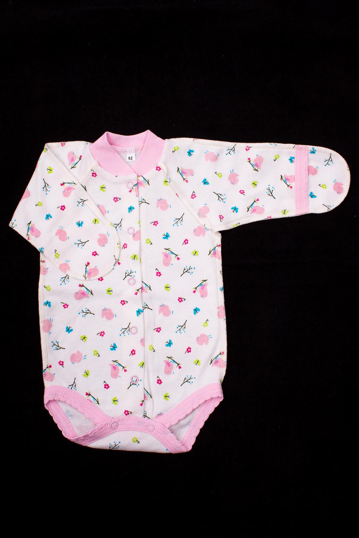 БодиКофточки<br>Хлопковое боди для новорожденного.  В изделии использованы цвета: белый, розовый и др.  Размер соответствует росту ребенка.<br><br>По сезону: Всесезон<br>Размер : 62<br>Материал: Хлопок<br>Количество в наличии: 1