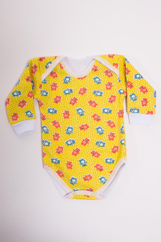 БодиКофточки<br>Хлопковое боди для новорожденного  Цвет: желтый, мультицвет  Размер соответствует росту ребенка<br><br>Размер : 74<br>Материал: Трикотаж<br>Количество в наличии: 1
