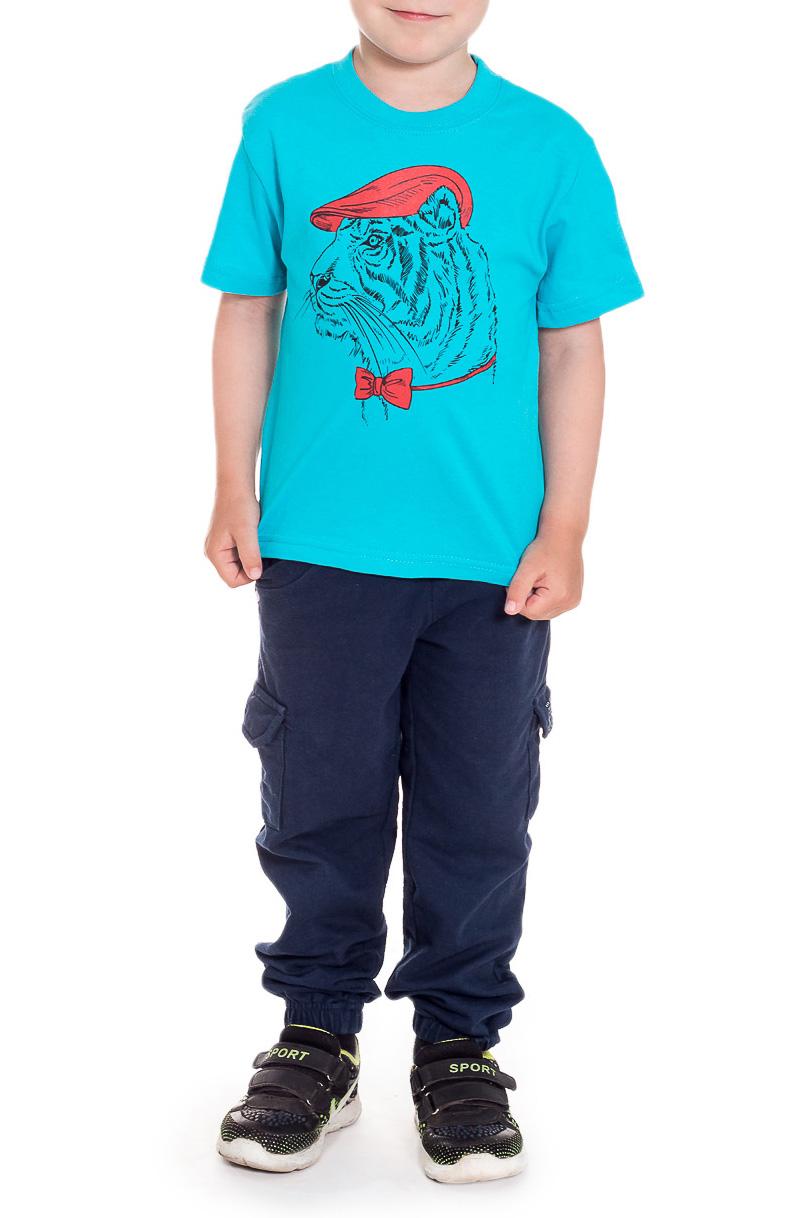 ФутболкаФутболки<br>Хлопковая футболка для мальчика  Размер 92 соответствует росту 87-92 см Размер 98 соответствует росту 93-98 см Размер 104 соответствует росту 98-104 см Размер 110 соответствует росту 105-110 см  Цвет: голубой<br><br>Горловина: С- горловина<br>По длине: Удлиненные<br>По материалу: Хлопковые<br>По образу: Повседневные<br>По рисунку: Однотонные,С принтом (печатью)<br>По сезону: Лето<br>По силуэту: Полуприталенные<br>Рукав: Короткий рукав<br>По возрасту: Дошкольные ( от 3 до 7 лет),Ясельные ( от 1 до 3 лет)<br>Размер : 92,98<br>Материал: Хлопок<br>Количество в наличии: 2