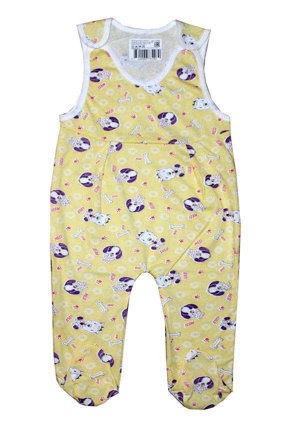 КомбинезонКомбинезончики<br>Хлопковый комбинезон для новорожденного  В изделии использованы цвета: желтый и др.  Размер соответствует росту ребенка<br><br>По сезону: Всесезон<br>Размер : 80<br>Материал: Хлопок<br>Количество в наличии: 1
