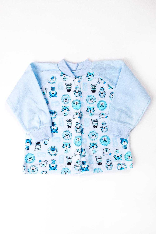 КофточкаКофточки<br>Хлопковая кофточка для новорожденного  В изделии использованы цвета: голубой и др.  Размер соответствует росту ребенка<br><br>По сезону: Всесезон<br>Размер : 68<br>Материал: Трикотаж<br>Количество в наличии: 1