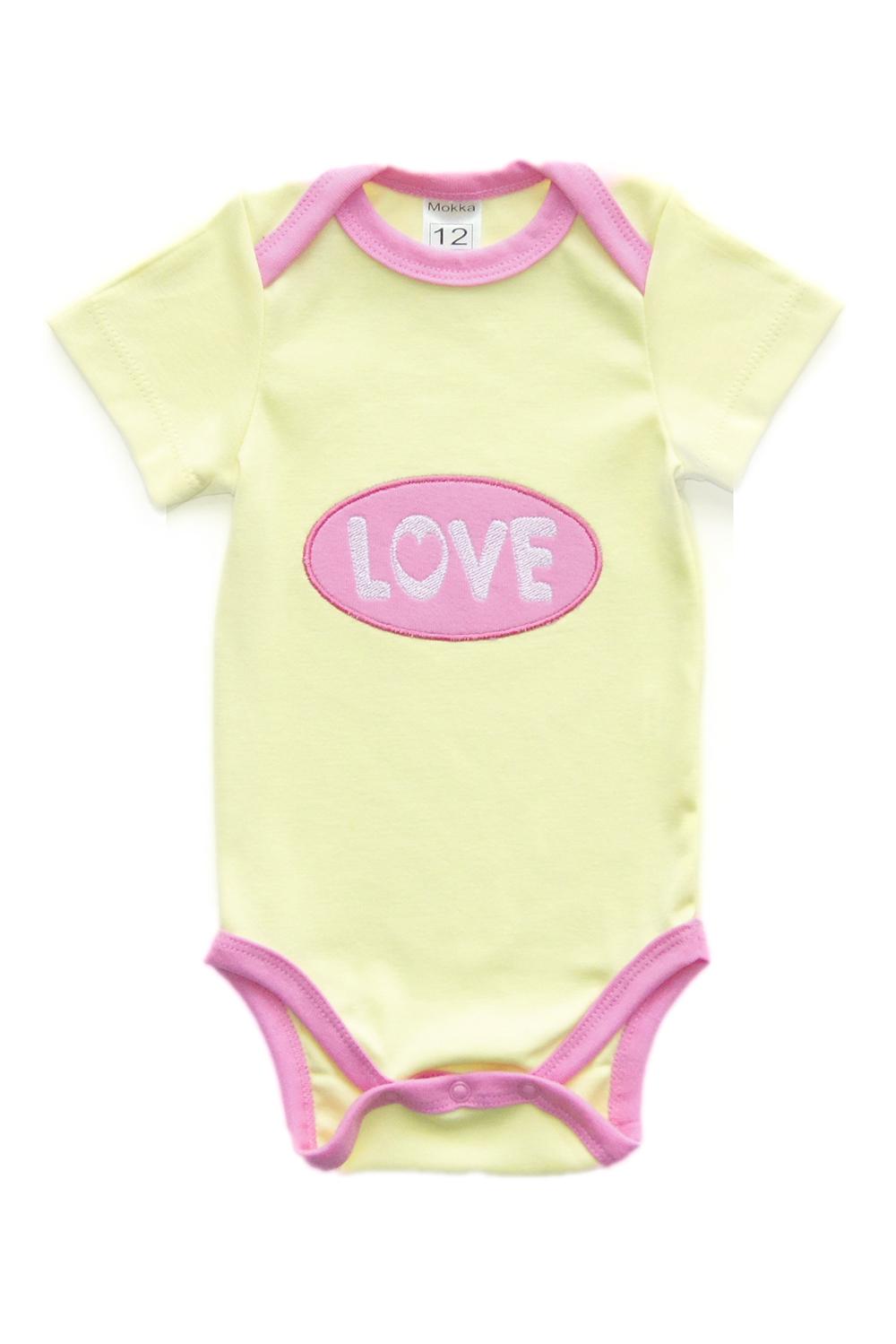 БодиКофточки<br>Хлопковое боди с вышивкой для новорожденного  В изделии использованы цвета: желтый, розовый и др.<br><br>По сезону: Всесезон<br>Размер : 56,62,68,80,86<br>Материал: Хлопок<br>Количество в наличии: 5