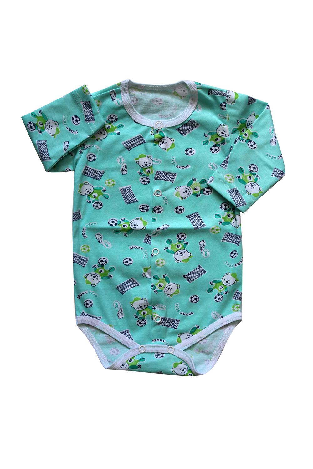 БодиКофточки<br>Хлопковое боди для новорожденного  В изделии использованы цвета: зеленый и др.  Размер соответствует росту ребенка.<br><br>По сезону: Всесезон<br>Размер : 62,68<br>Материал: Хлопок<br>Количество в наличии: 2