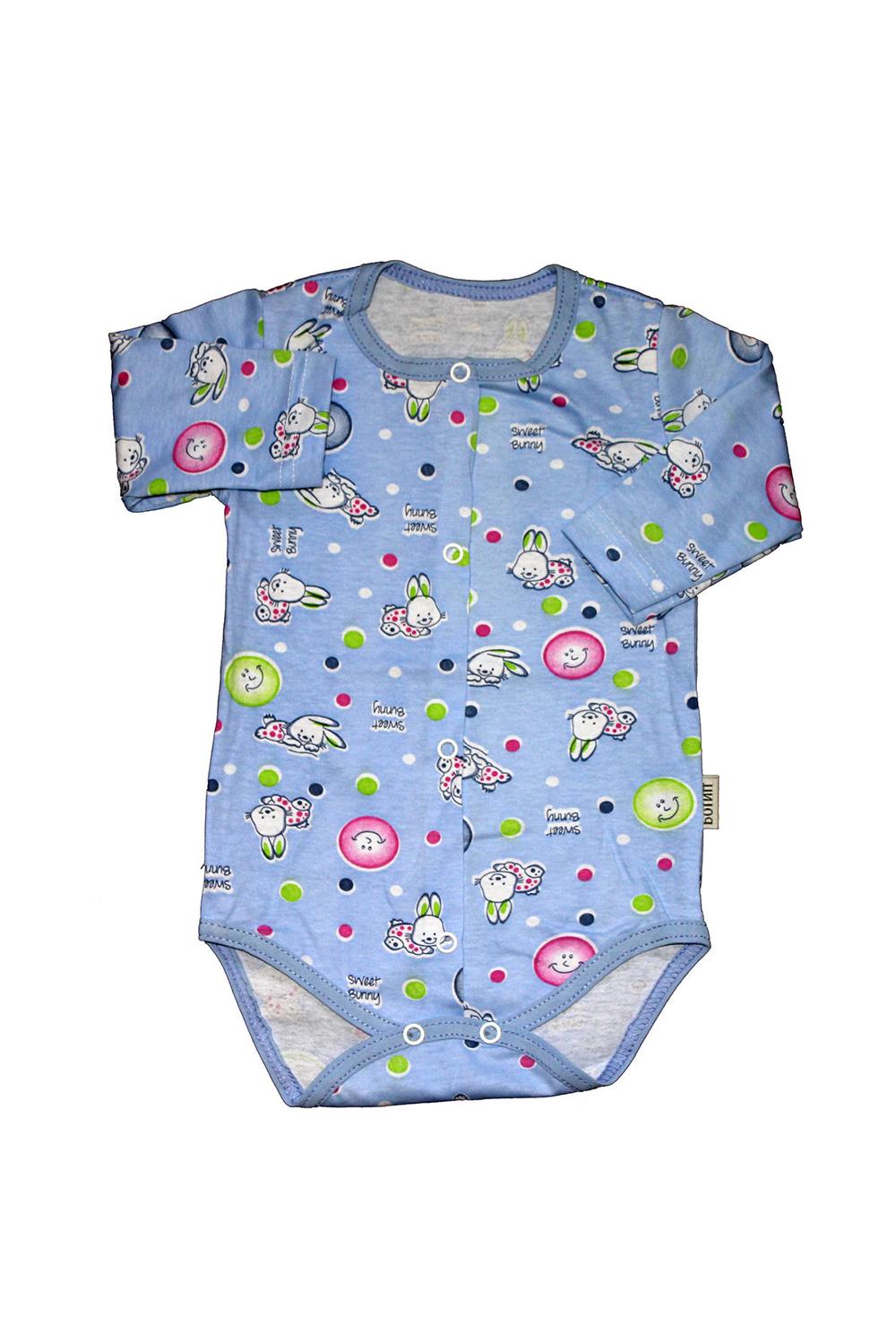 БодиКофточки<br>Хлопковое боди для новорожденного  В изделии использованы цвета: голубой и др.  Размер соответствует росту ребенка.<br><br>По сезону: Всесезон<br>Размер : 62,68<br>Материал: Хлопок<br>Количество в наличии: 2