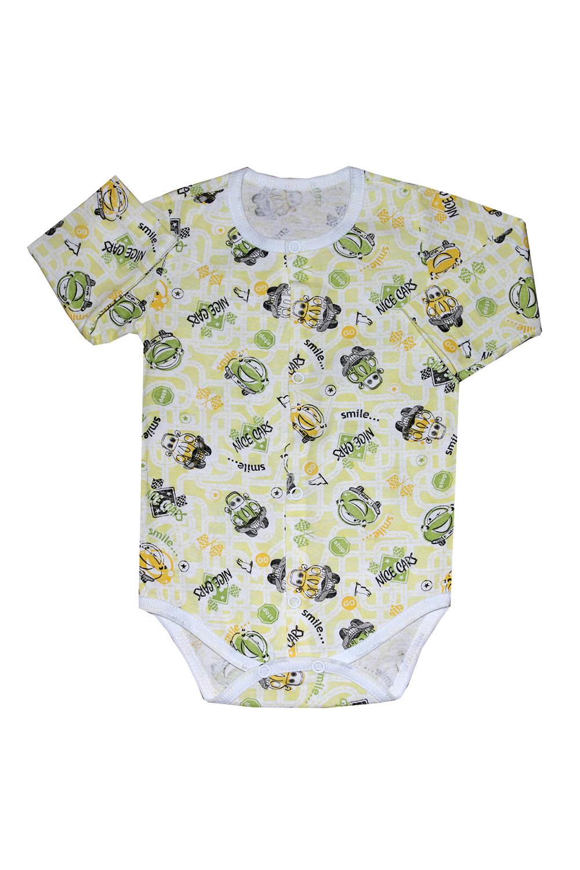 БодиКофточки<br>Хлопковое боди для новорожденного  В изделии использованы цвета: желтый, зеленый и др.  Размер соответствует росту ребенка.<br><br>По сезону: Всесезон<br>Размер : 68<br>Материал: Хлопок<br>Количество в наличии: 1