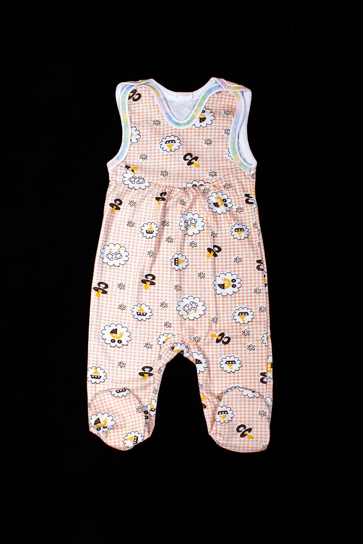 ПолукомбинезонКомбинезончики<br>Хлопковый полукомбинезон для новорожденного  В изделии использованы цвета: белый, бежевый и др.  Размер соответствует росту ребенка<br><br>По сезону: Всесезон<br>Размер : 74<br>Материал: Хлопок<br>Количество в наличии: 1