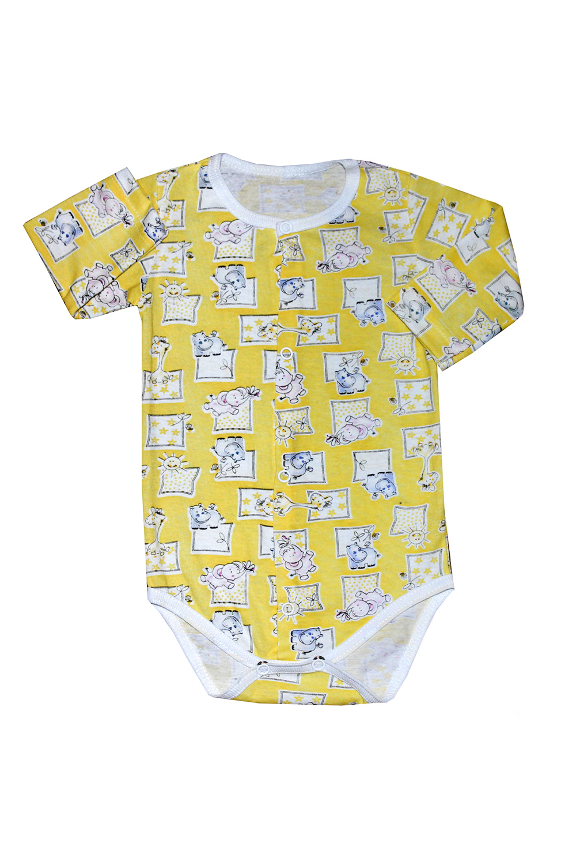 БодиКофточки<br>Хлопковое боди для новорожденного  В изделии использованы цвета: желтый, белый и др.  Размер соответствует росту ребенка.<br><br>По сезону: Всесезон<br>Размер : 68,74<br>Материал: Хлопок<br>Количество в наличии: 2