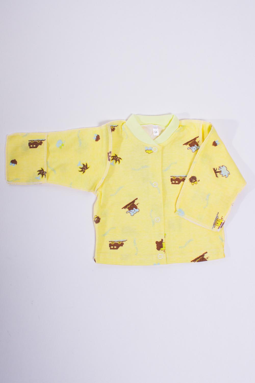 КофточкаКофточки<br>Хлопковая кофточка для новорожденного  Цвет: желтый, мультицвет  Размер соответствует росту ребенка<br><br>Размер : 56<br>Материал: Хлопок<br>Количество в наличии: 2