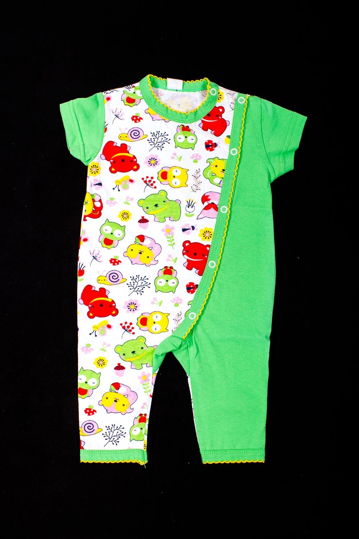 КомбинезонКомбинезончики<br>Хлопковый комбинезон для новорожденного  В изделии использованы цвета: салатовый, белый и др.  Размер соответствует росту ребенка<br><br>По сезону: Всесезон<br>Размер : 62<br>Материал: Хлопок<br>Количество в наличии: 1