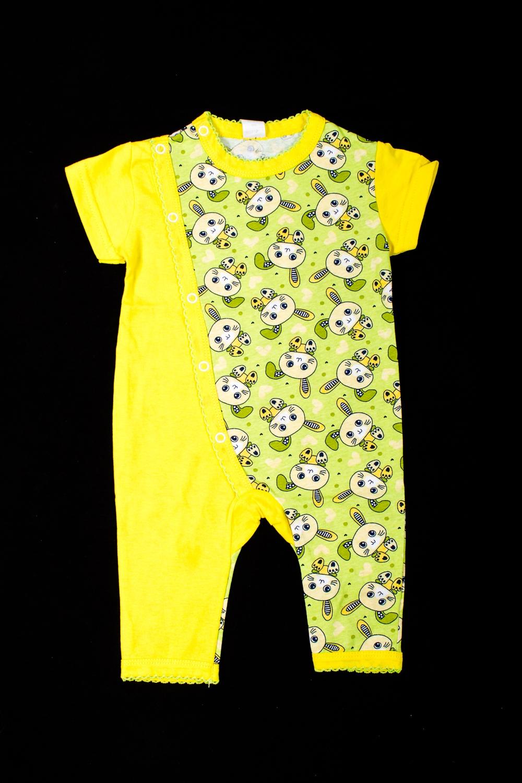 КомбинезонКомбинезончики<br>Хлопковый комбинезон для новорожденного  В изделии использованы цвета: желтый и др.  Размер соответствует росту ребенка<br><br>По сезону: Всесезон<br>Размер : 62<br>Материал: Хлопок<br>Количество в наличии: 1