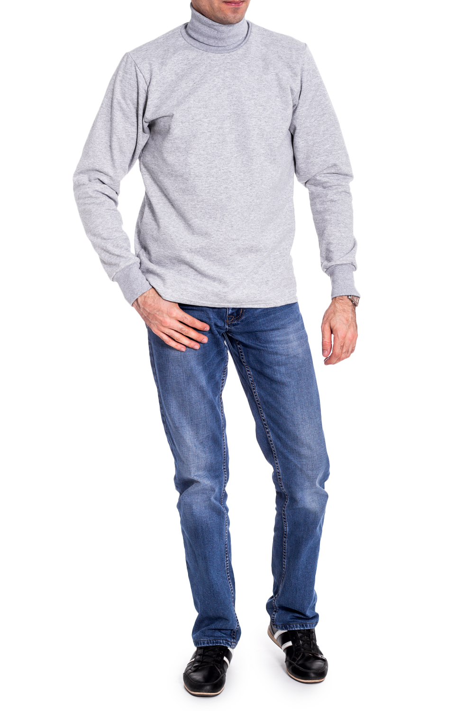 ВодолазкаДжемперы<br>Мужская однотонная водолазка с длинными рукавами. Отличный выбор для базового гардероба.   Цвет: серый  Ростовка изделия 170 см.  Рост мужчины - фотомодели 177 см.<br><br>По сезону: Осень,Весна<br>Размер : 48<br>Материал: Трикотаж<br>Количество в наличии: 1