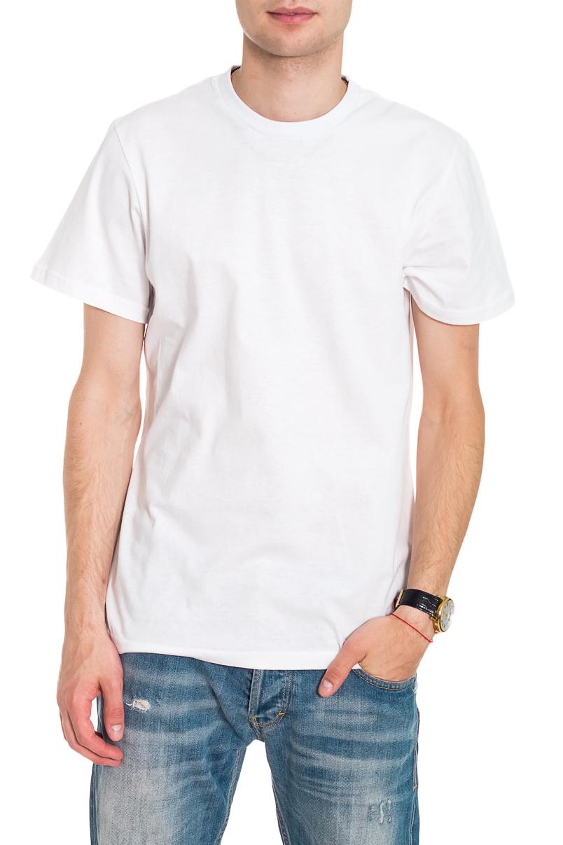 ФутболкаФутболки<br>Мужская хлопковая футболка. Отличный выбор для повседневного гардероба и активного отдыха.  Цвет: белый  Рост мужчины-фотомодели 182 см<br><br>По сезону: Всесезон<br>Размер : 46,48,54<br>Материал: Хлопок<br>Количество в наличии: 7