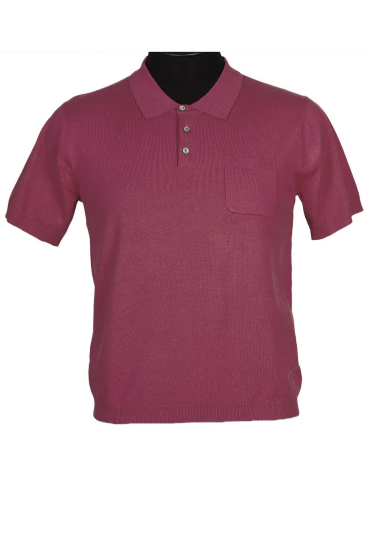 ФутболкаФутболки<br>Мужская хлопковая футболка-поло. Отличный выбор для повседневного гардероба и активного отдыха.  Цвет: вишневый<br><br>По сезону: Всесезон<br>Размер : 48,50<br>Материал: Трикотаж<br>Количество в наличии: 2