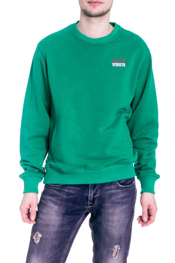 ТолстовкаДжемперы<br>Однотонная толстовка с круглой горловиной и длинными рукавами. Модель выполнена из плотного трикотажа. Отличный выбор для повседневного гардероба.  В изделии использованы цвета: зеленый  Рост мужчины-фотомодели 182 см<br><br>По сезону: Осень,Весна<br>Размер : 44,46,48-50,52-54,56-58,60-62<br>Материал: Трикотаж<br>Количество в наличии: 6