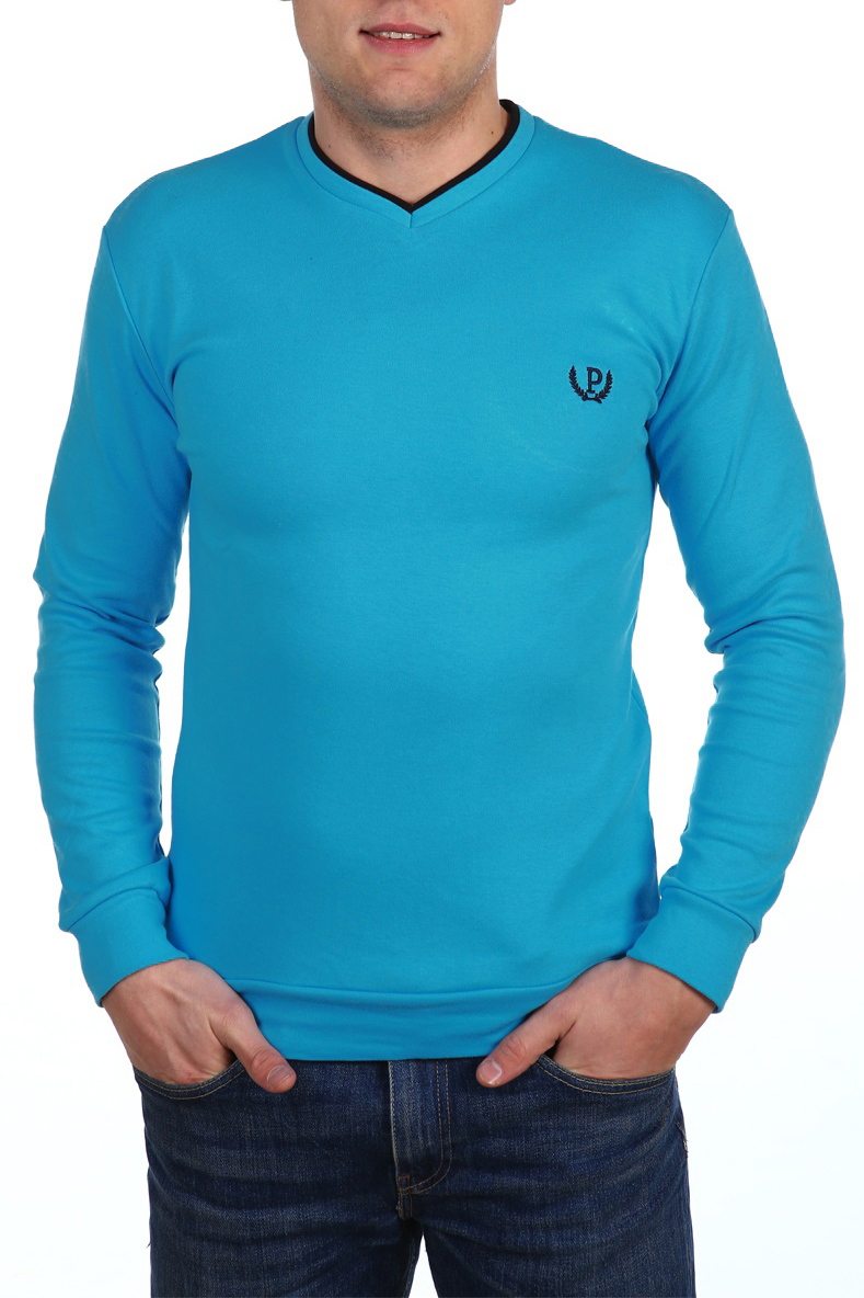 ДжемперДжемперы<br>Универсальный мужской джемпер с длинными рукавами. Модель выполнена из плотного трикотажа. Отличный выбор для повседневного гардероба.  В изделии использованы цвета: сине-голубой  Ростовка изделия 158-164 см.<br><br>По сезону: Осень,Весна<br>Размер : 54<br>Материал: Трикотаж<br>Количество в наличии: 1