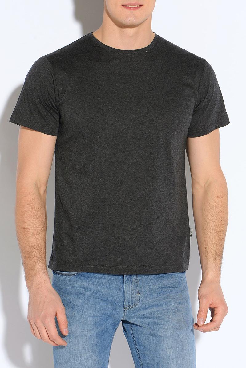 ФутболкаФутболки<br>Классическая мужская футболка из высокотехнологичного мерсеризованного хлопка, который не садится и не мнется при стирке. Благодаря специальной обработке, мерсеризованный хлопок приобретает легкий шелковый блеск, становится более гладким, приятным на ощупь.  Цвет: темно-серый.  Рост мужчины-фотомодели 182 см.<br><br>По сезону: Всесезон<br>Размер : 48,50,52,54<br>Материал: Трикотаж<br>Количество в наличии: 4