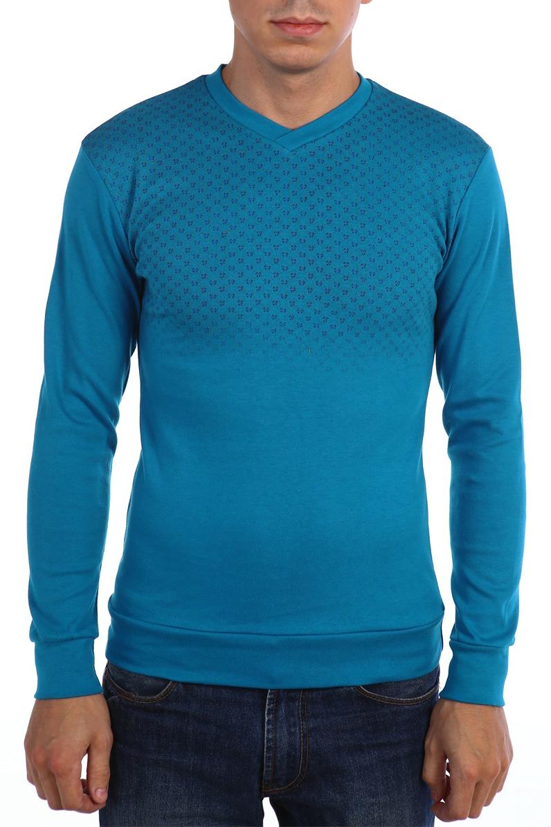 ДжемперДжемперы<br>Универсальный мужской джемпер с длинными рукавами. Модель выполнена из плотного трикотажа. Отличный выбор для повседневного гардероба.  В изделии использованы цвета: голубой и др.  Ростовка изделия 158-164 см.<br><br>По сезону: Осень,Весна<br>Размер : 48,52<br>Материал: Трикотаж<br>Количество в наличии: 3