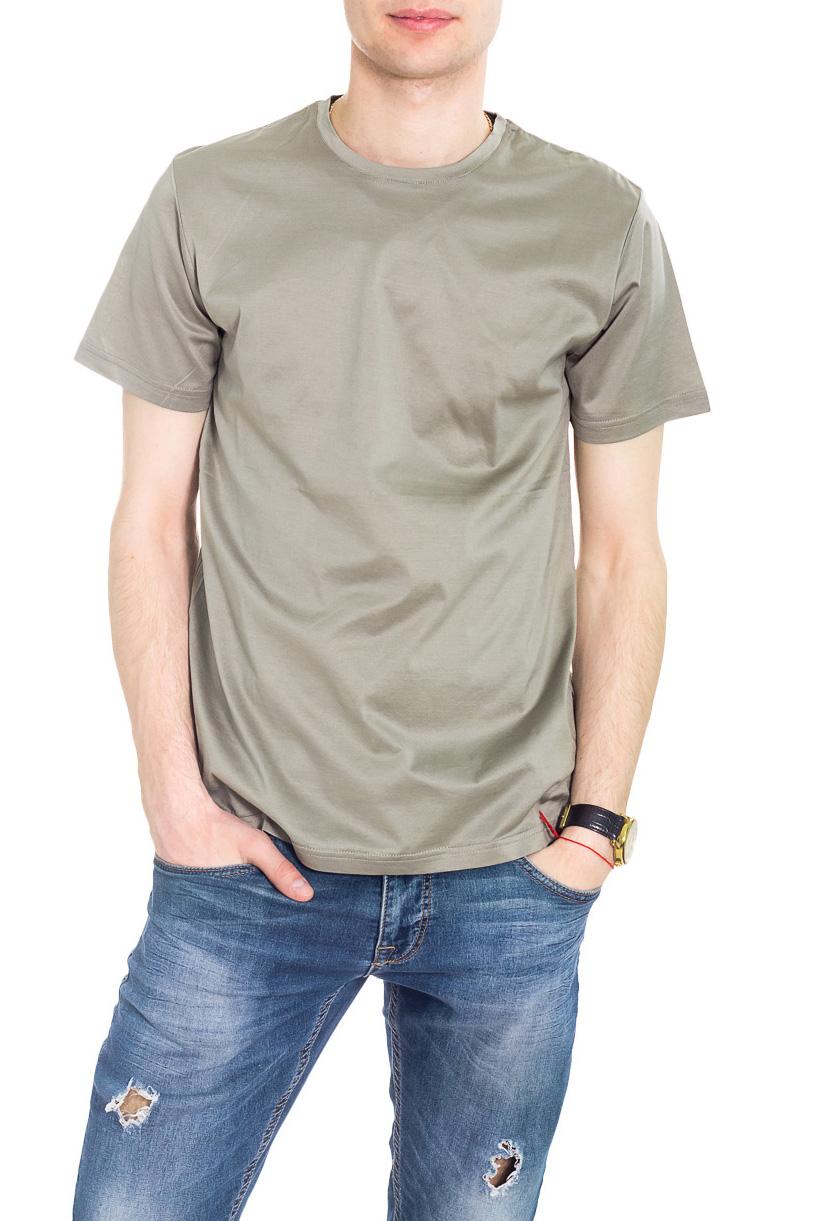 ФутболкаФутболки<br>Классическая мужская футболка из приятного трикотажа.Классическая мужская футболка из высокотехнологичного мерсеризованного хлопка, который не садится и не мнется при стирке. Благодаря специальной обработке, мерсеризованный хлопок приобретает легкий шелковый блеск, становится более гладким, приятным на ощупь.  Цвет: оливковый.  Рост мужчины-фотомодели 182 см.<br><br>По сезону: Всесезон<br>Размер : 48,50,52<br>Материал: Трикотаж<br>Количество в наличии: 3