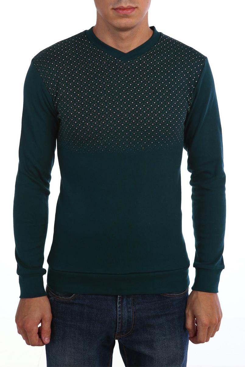 ДжемперДжемперы<br>Универсальный мужской джемпер с длинными рукавами. Модель выполнена из плотного трикотажа. Отличный выбор для повседневного гардероба.  В изделии использованы цвета: зеленый и др.  Ростовка изделия 158-164 см.<br><br>По сезону: Осень,Весна<br>Размер : 48,52<br>Материал: Трикотаж<br>Количество в наличии: 2
