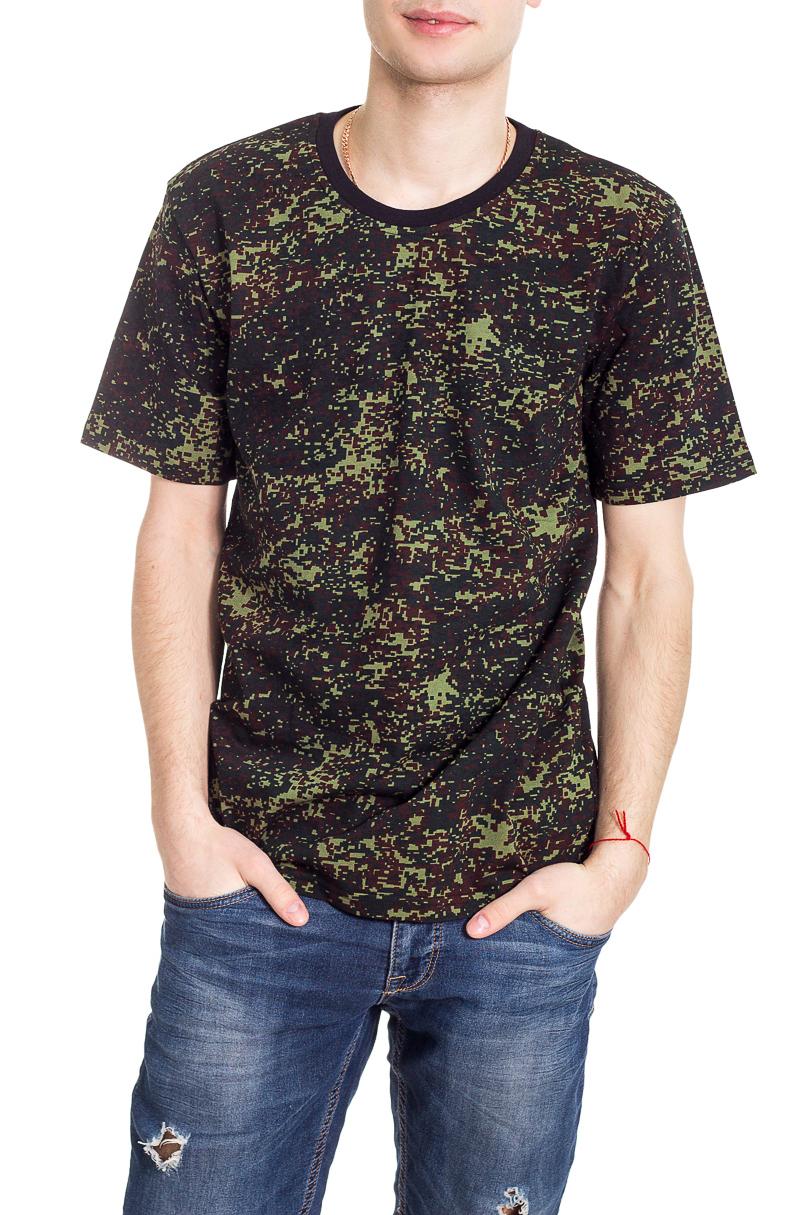 ФутболкаФутболки<br>Стильная мужская футболка полуприталенного силуэта.  Цвет: коричневый, хаки.<br><br>По сезону: Всесезон<br>Размер : 46,48,50,52<br>Материал: Хлопок<br>Количество в наличии: 18