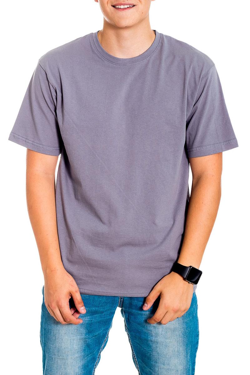 ФутболкаФутболки<br>Мужская хлопковая футболка с короткими рукавами. Отличный выбор для базового гардероба.   Цвет: серый  Рост мужчины-фотомодели 178 см<br><br>По сезону: Всесезон<br>Размер : 44,46-48<br>Материал: Хлопок<br>Количество в наличии: 3