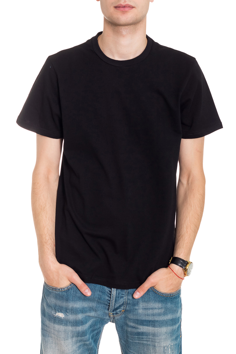 ФутболкаФутболки<br>Мужская хлопковая футболка. Отличный выбор для повседневного гардероба и активного отдыха.  Цвет: черный  Рост мужчины-фотомодели 182 см<br><br>По сезону: Всесезон<br>Размер : 46,48,50,52,54<br>Материал: Хлопок<br>Количество в наличии: 12