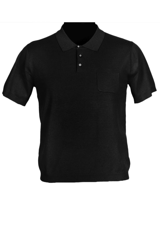 ФутболкаФутболки<br>Мужская хлопковая футболка-поло. Отличный выбор для повседневного гардероба и активного отдыха.  Цвет: черный<br><br>По сезону: Всесезон<br>Размер : 48,50,52<br>Материал: Трикотаж<br>Количество в наличии: 5