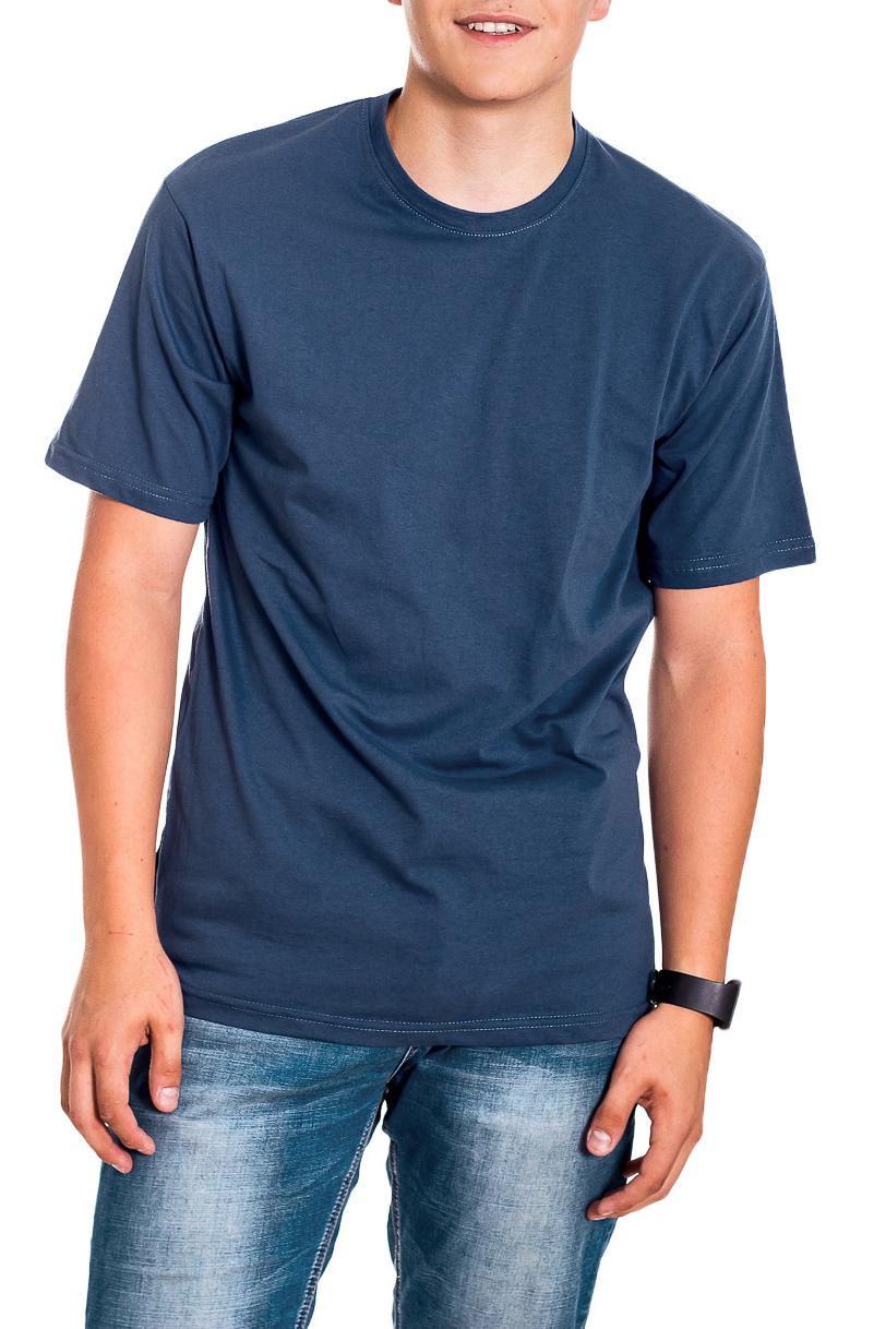 ФутболкаФутболки<br>Мужская хлопковая футболка с короткими рукавами. Отличный выбор для базового гардероба.   Цвет: синий  Рост мужчины-фотомодели 178 см<br><br>По сезону: Всесезон<br>Размер : 44,46-48<br>Материал: Хлопок<br>Количество в наличии: 5