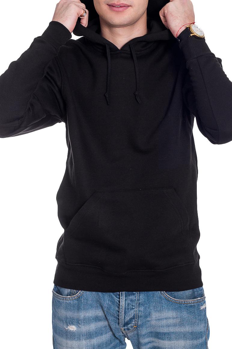 ТолстовкаТолстовки<br>Теплая мужская толстовка с капюшоном. Длинные рукава с манжетами. Карманы по бокам изделия.  В изделии использованы цвета: черный  Рост мужчины-фотомодели 182 см<br><br>По сезону: Осень,Весна<br>Размер : 40-42,44,46-48,50,52-54,56<br>Материал: Трикотаж<br>Количество в наличии: 22